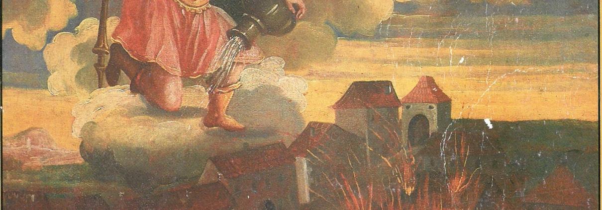 Sveti Florijan, ulje na platnu, nepoznat autor, 1742., Gradski muzej Varaždin