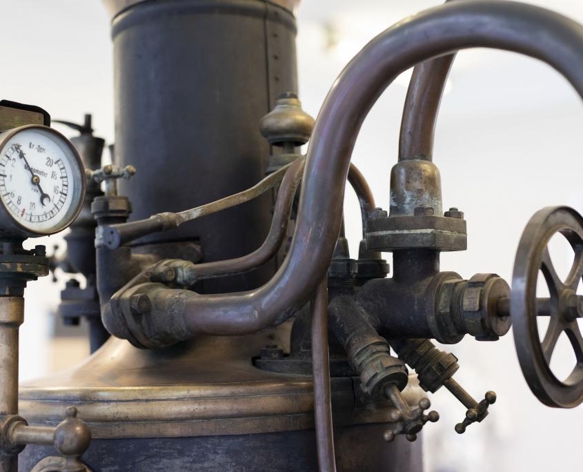 Detalj parne vatrogasne štrcaljke