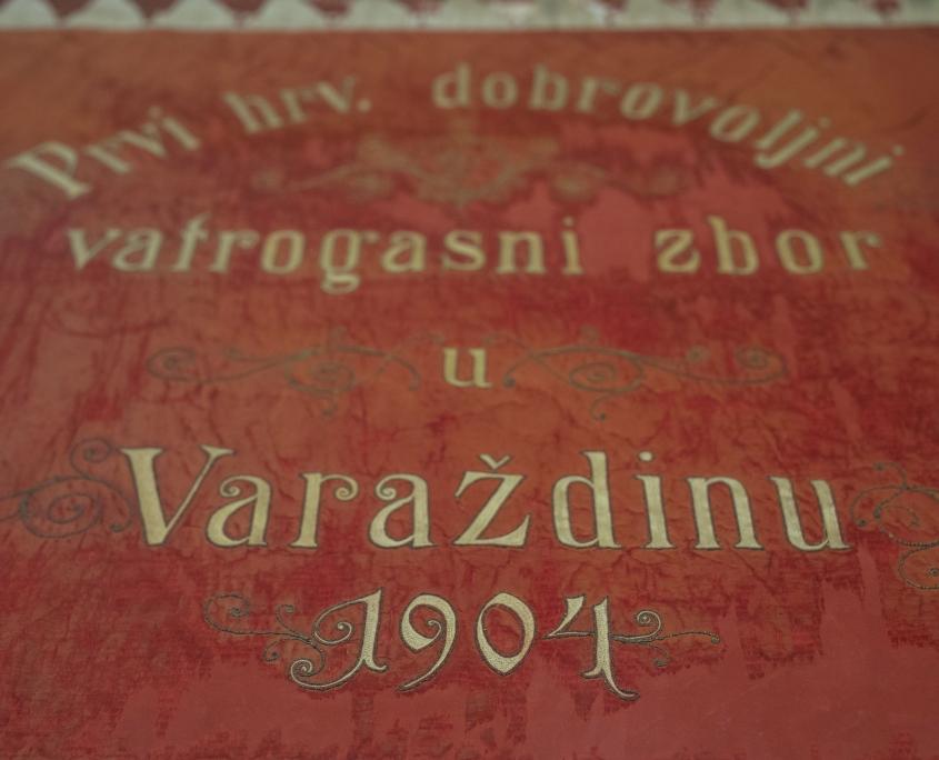 Zastava Prvog hrvatskog dobrovoljnog vatrogasnog zbora u Varaždinu